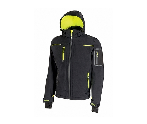 Giacca soft shell upower modello space colore black carbon