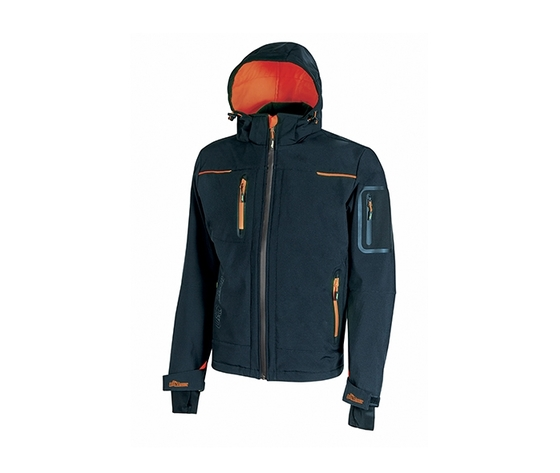 Giacca soft shell upower modello space colore deep blue