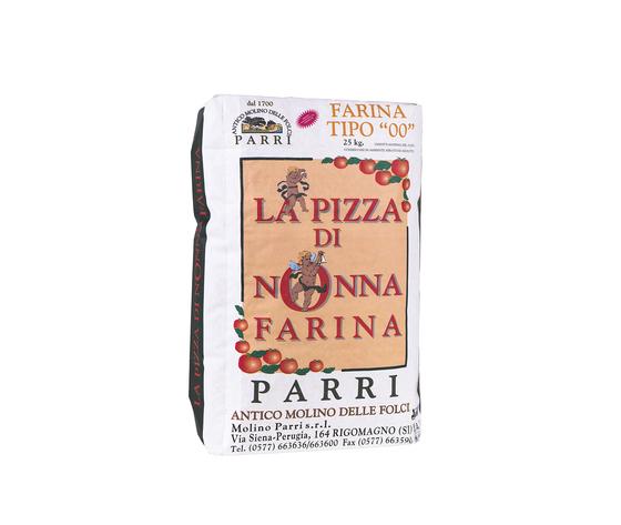 """Farina tipo """"00""""speciale per pizza confezione da kg 25 nonna farina verde"""