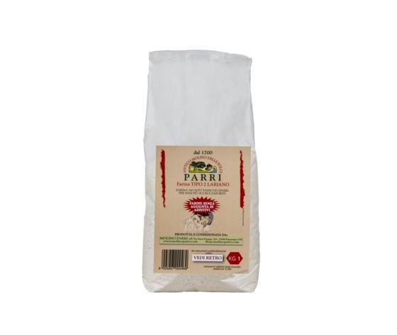 farina di grano tenero tipo 2 lariano confezione da kg 1