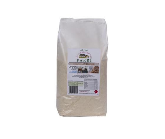 Farina di lenticchie macinata a pietra da kg 1