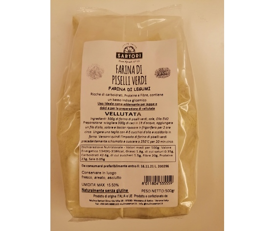 Farina di piselli confezione da 500 g