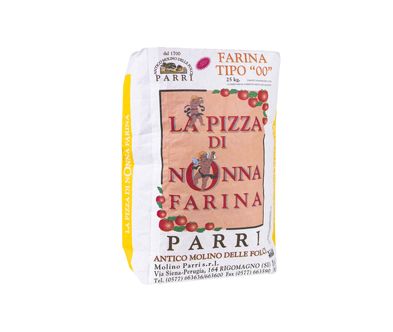 """Farina tipo""""00""""speciale per pizza confezione da kg 25 nonna farina gialla"""
