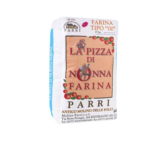 """Farina tipo""""00""""speciale per pizza confezione da kg 25 nonna farina celeste"""