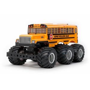 Tamiya 58653 SCALA 1:18 RC King Yellow 6x6 Bus (G6-01), Auto/Veicolo telecomandato, Kit di Costruzione, assemblaggio, Non Verniciato.
