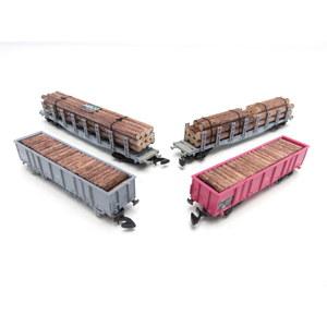 Marklin scala Z Miniclub 82516 Gruppo di carri merci Svizzeri trasporto legno