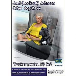 Truckers series: Kit#5 Joni (Lookout) Johnson & her dog Maxx, Master Box | No. MB24045 | 1:24