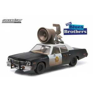 Greenlight Hollywood - Blues Brothers (1980) - 1974 Dodge Monaco `Bluesmobile` con clacson N.86423