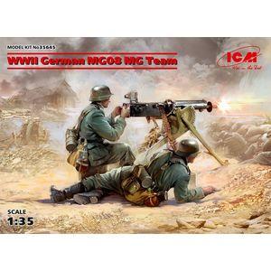 WWII GERMAN MG08 MG TEAM ICM