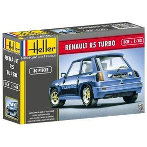 Heller 80150 - Modellino da Costruire, Auto Renault R5 Turbo, Scala 1:43