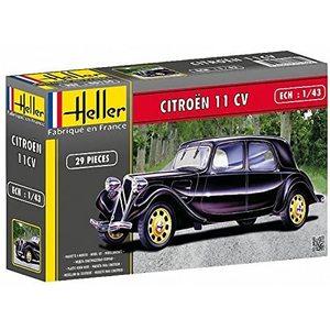 Heller 80159 - Modellino da Costruire, Auto Citroen 11 CV, Scala 1:43
