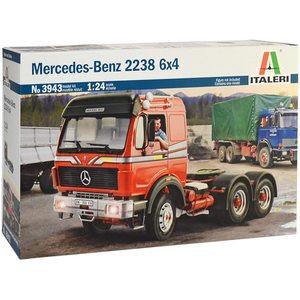 Italeri 3943 Camion Mercedes Benz 2238 6X4 Model Kit Scala 1:24