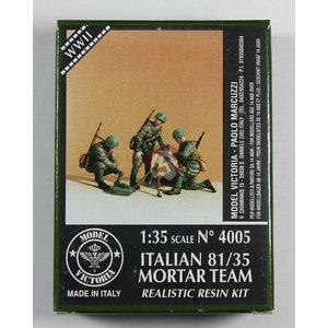 ITALIAN 81/35 MORTAR TEAM MODEL VICTORIA 1/35