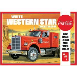 White Western Star Tuck Tractor, Coca-Cola AMT 1160/06 SCALA 1:25