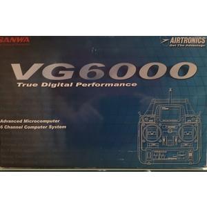 Radio SANWA VG-6000-6ch MODE I 35.130 MHZ ART.6026 (SOLO RADIO)