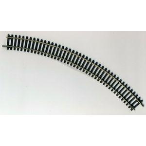 r607 binari curvi 45 gradi 438 mm hornby