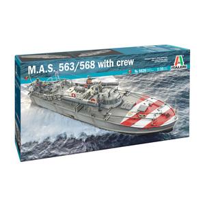 M.A.S. 563/568 WITH CREW ITALERI
