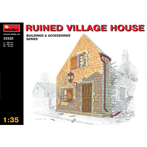 RUINED VILLAGE HOUSE MINIART