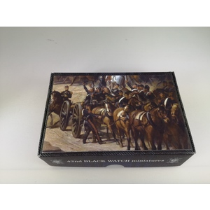 FRENCH HORSE ARTILLERY 3 GUS AND 16 FIGURES BATTAGLIA DI SOLFERINO 1859 42ND BLACK WATCH MINIATURES 1:72