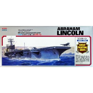 USS NUCLEAR-POWERED AICRAFT CARIER ABRAHAM LINCOLN 1/800 ARII PLASTIC MODEL