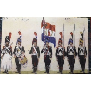 French Revolutionary Infantry - Infanterie Légere 1797-1800 ( 12 foot ) by 42nd BLACK WATCH miniatures