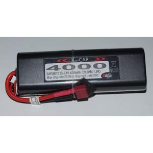 Batteria (LiPo Xell-Car ROUND 7.4V 4000MAH 20C Dea)