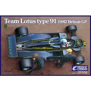 Team Lotus Type 91 1982 British GP Formula 1 scala 1:20 Ebbro plastic