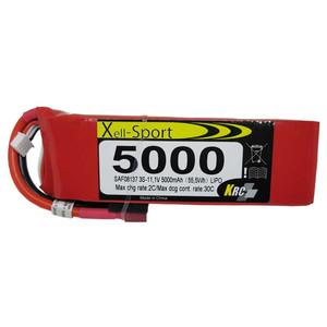 Lipo Xell-Sport 11.1V 5000MAH 3S SAF08137