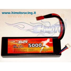 BATTERIA LiPo con cassa rigida di protezione 5000mAh 7,4V ( 2S- 2celle) Burst 60C Disch. 30C