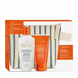 Collistar Confezione Balsamo Doposole Idratante  Restitutivo 200 ml + Doccia - shampoo doposole Idratante restitutivo + Pochette tessuto 100 % riciclato