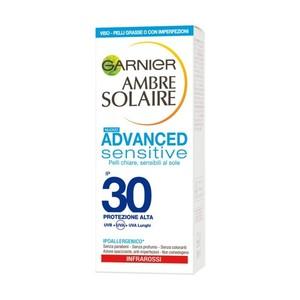 Garnier Ambre Solaire Advanced Sensitive Crema Viso Anti-Imperfezioni SPF 30 50 ml