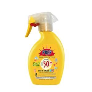 Prep  I' m green Dermoprotettivo Latte Solare KIDS SPF 50+ UVA / UVB Protezione Pelli Sensibili con Vitamina E 225 ml
