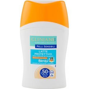 Clinians Latte Protettivo senza profumo né coloranti RESISTENTE ALL' ACQUA Bimbi SPF 50+ UVA/ UVB150 ml