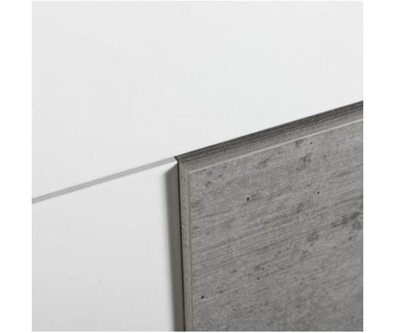 Cassettiera con 5 cassetti laccato bianco lucido e cemento guide in metallo p 2152314 13101556 5