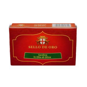 SARDINE IN OLIO DI OLIVA SELLO DE ORO 120 g.