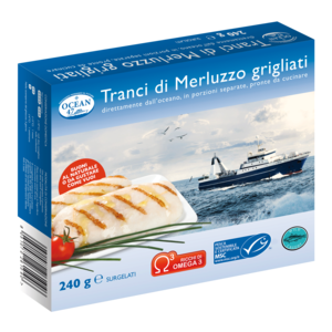 TRANCI DI MERLUZZO GRIGLIATI OCEAN 47  MSC 240 g.