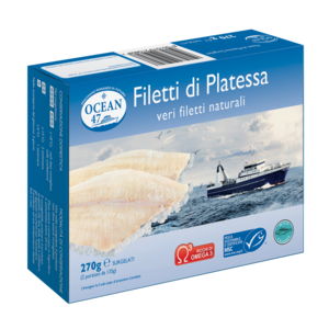 FILETTI PLATESSA NATURALE OCEAN 47 MSC 270 g.