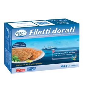 FILETTI DI MERLUZZO DORATI OCEAN 47 MSC 300 g.