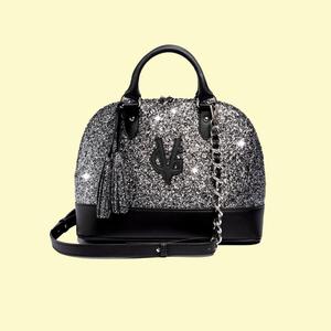 Valentina Giorgi borsa Bugatti grande glitter sale&pepe