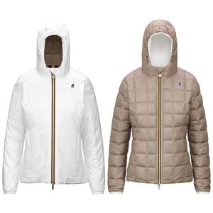 K-WAY LILY THERMO PLUS WHITE-BEIGE TAUPE