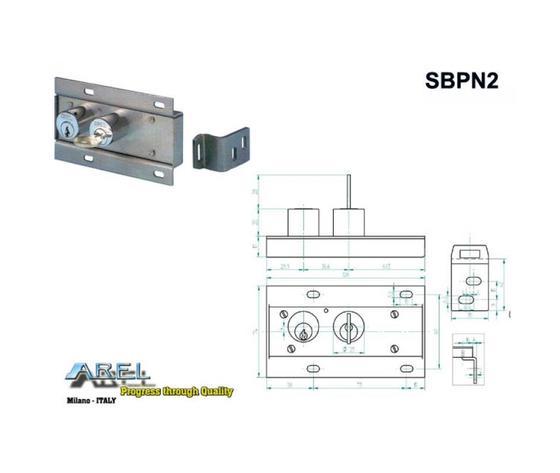 Serratura Di Blocco Porta Sbpn2