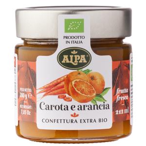 Confettura carota e arancia 200gr Alpa