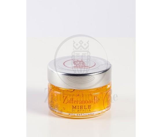 Miele allo zafferano vasetto di vetro da 40 gr 2