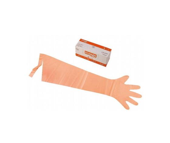 Guanti palpazione uso vet.orange softglove%28100%29