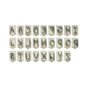 Lettera Singola Per Tatuatore In Alluminio Tipo Stone 4 Posizioni - 10mm