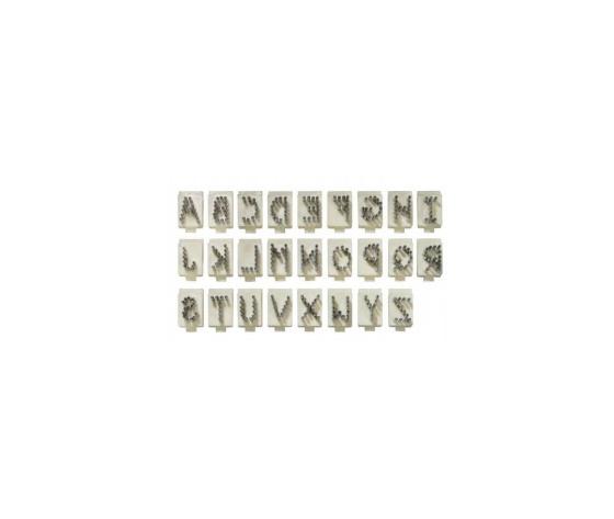 Lettera singola per tatuatore in alluminio tipo stone 4 posizioni   10mm