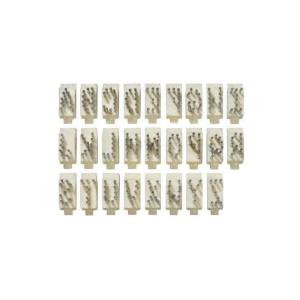 Lettera Singola Per Tatuatore In Alluminio Tipo Stone 5 Posizioni  - 8 Mm