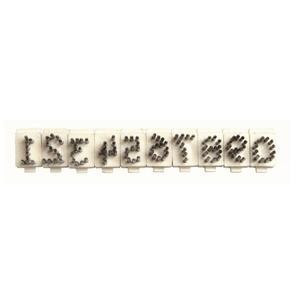 Numero Singolo Per Tatuatore In Alluminio Tipo Stone 4 Posizioni 10mm