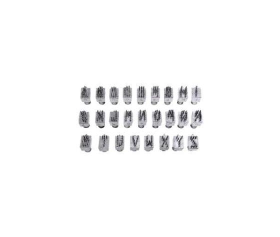 Set di lettere in metallo per  tatuatore ketchum 101  7 posizioni  %2826 lettere%29   6 mm x000d