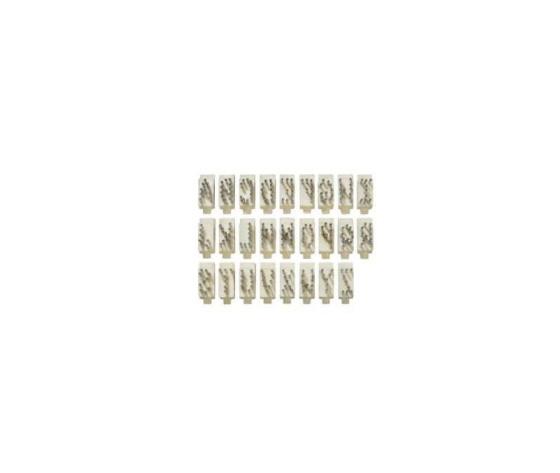Set lettere  10 mm tatuatore tipo stone aluminio 4 spazi %2826%29